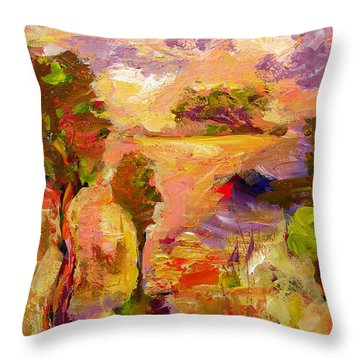 A Joyous Landscape Throw Pillow