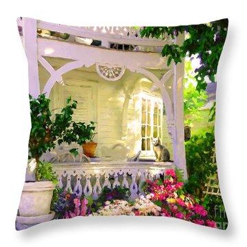 A Key West Porch Throw Pillow
