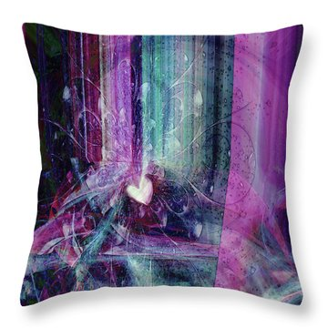 Throw Pillow featuring the digital art A Kind Heart by Linda Sannuti