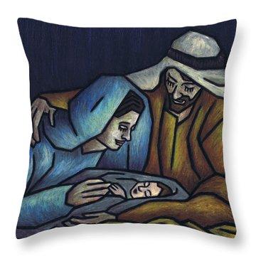 A King Is Born Throw Pillow by Kamil Swiatek