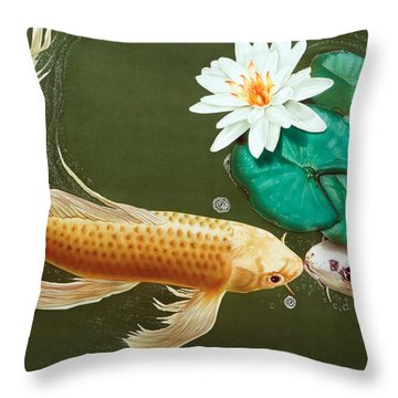 A Kiss Is Just A Kiss Throw Pillow
