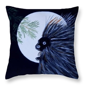 A Knight In The Woods Throw Pillow
