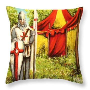 A Knights' Rest Throw Pillow