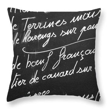A La Carte Throw Pillow