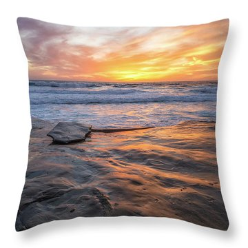 A La Jolla Sunset #2 Throw Pillow
