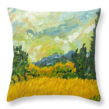 A La Van Gogh Throw Pillow by Diane Arlitt