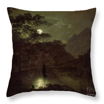 A Lake By Moonlight Throw Pillow