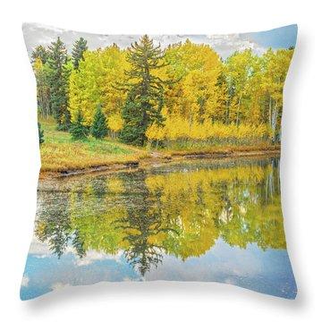 A Lakeside Willowwacks  Throw Pillow