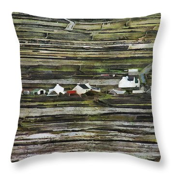 A Landscape With A Farm Throw Pillow