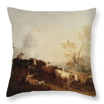 Thomas Gainsborough Throw Pillows