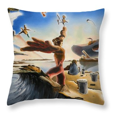 A Last Minute Apocalyptic Education Throw Pillow by Dave Martsolf