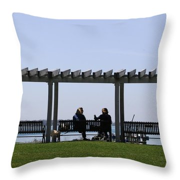 A Lazy Day Throw Pillow