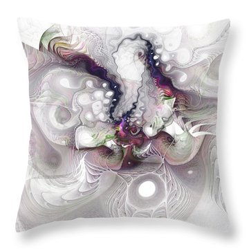 Throw Pillow featuring the digital art A Leap Of Faith - Fractal Art by NirvanaBlues