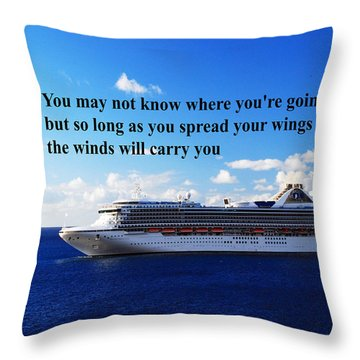 A Life Journey Throw Pillow by Gary Wonning