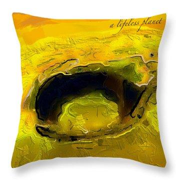 A Lifeless Planet Yellow Throw Pillow