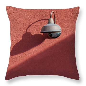 Throw Pillow featuring the photograph A Light Alone by Paul Wear