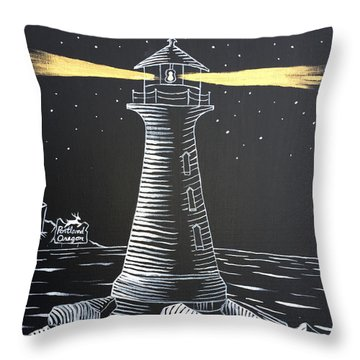 Throw Pillow featuring the painting A Light In The Darkness by Nathan Rhoads