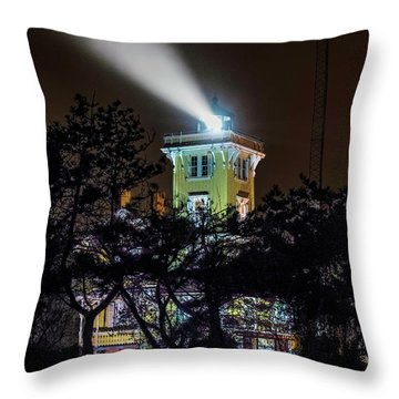 Throw Pillow featuring the photograph A Light In The Darkness by Nick Zelinsky