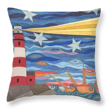 A Light In The Night Throw Pillow