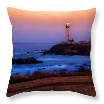 A Light On A Rock  Throw Pillow
