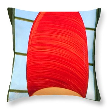 A Light On In Trhe Window Throw Pillow
