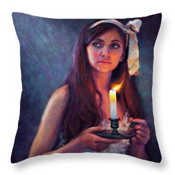 A Light Unto My Path Throw Pillow