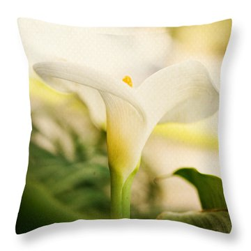 A Lily Soft And Tender Throw Pillow by MaryJane Armstrong