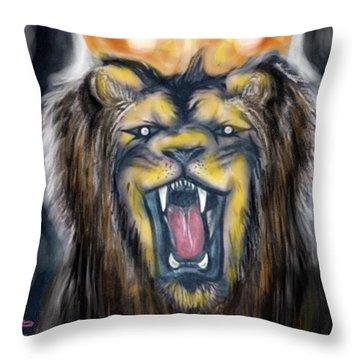 A Lion's Royalty Throw Pillow