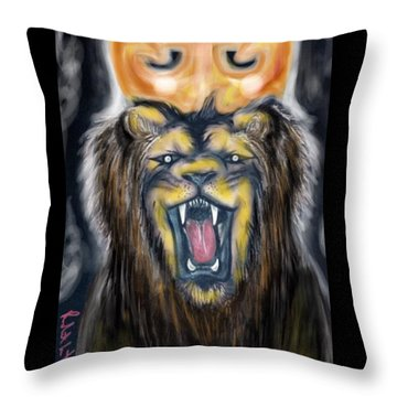 A Lion's Royalty Throw Pillow
