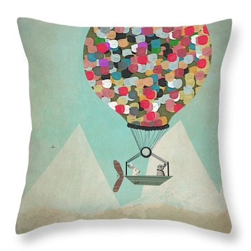 A Little Adventure Throw Pillow