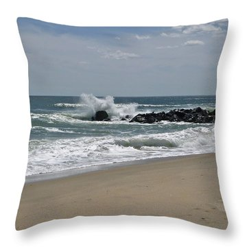 A Little April Drama Throw Pillow
