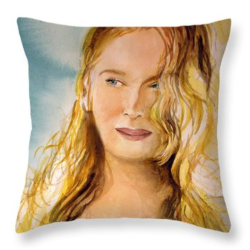 A Little Bit Of Meryl Throw Pillow by Allison Ashton