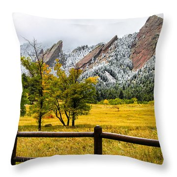 A Little Bit Of Winter Throw Pillow