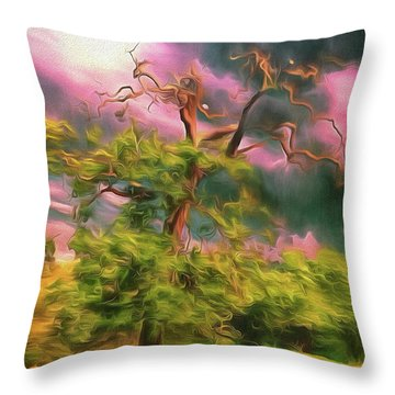 A Little Bit Worse For Wear Throw Pillow