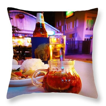Throw Pillow featuring the photograph A Little Dab Will Do Yah. It's Sliced by Mr Photojimsf