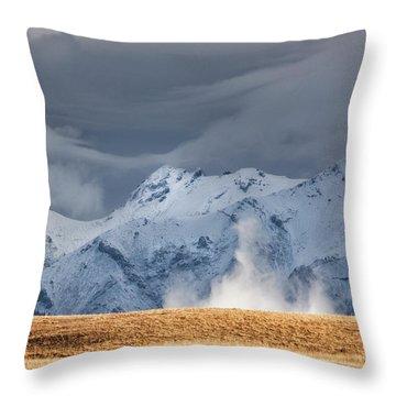 A Little Gust Throw Pillow