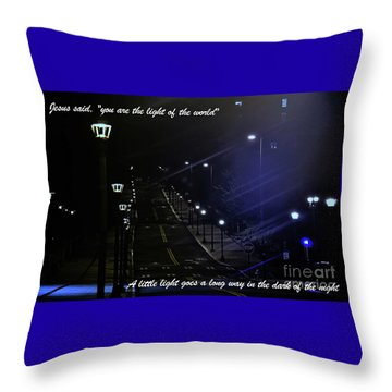 A Little Light Throw Pillow