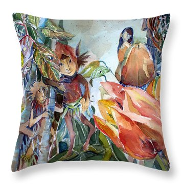 A Little Magic Throw Pillow by Mindy Newman