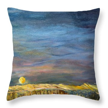 A Little Moon Magic Throw Pillow