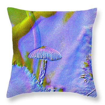 A Little Mushroom  Throw Pillow