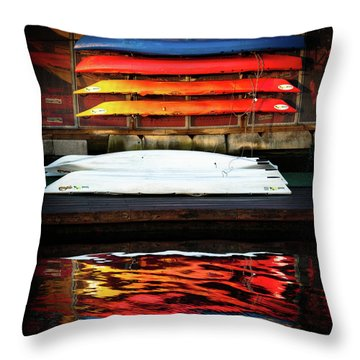 A Little Reflection Before The Adventure Throw Pillow