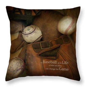 Throw Pillow featuring the photograph A Little Sacrifice by Robin-lee Vieira