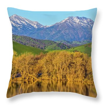 A Little Snow On Mt. Diablo Throw Pillow