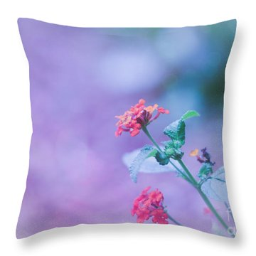 A Little Softness, A Little Color - Macro Flowers Throw Pillow