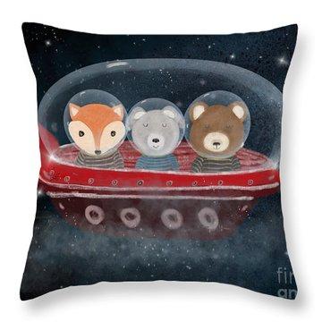 A Little Space Adventure Throw Pillow