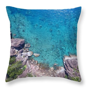 A Little Square Of Paradise  Throw Pillow