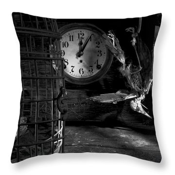 A Little Too Late Throw Pillow