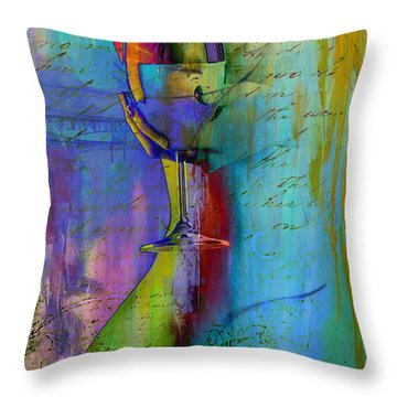 Throw Pillow featuring the digital art A Little Wining by Greg Sharpe