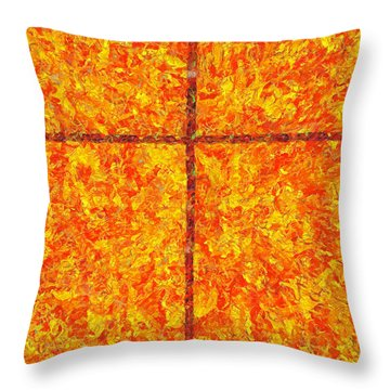 A Living God Throw Pillow