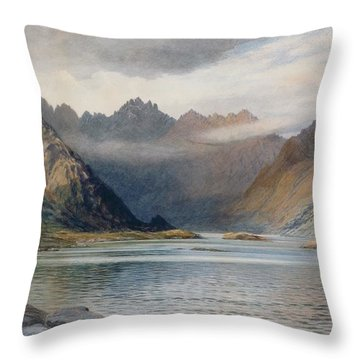A Loch North Of Hadrian's Wall Throw Pillow by Walter Severn